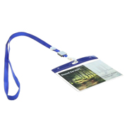 Portaidentificador de color + lanyard