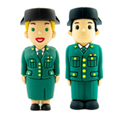 Pendrive muñecos Guardia Civil con logo