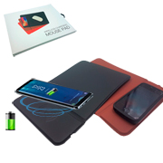 Mouse pad con base de carga movil inalambrica