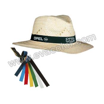 Sombrero de paja con cinta de color - Reclamo publicitario - Evacolor 7e0ab8a2cd91
