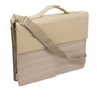 Cartera Maletin para mujeres  color Beige con logotipo